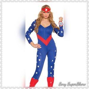 🆕🇺🇸Captain America Shero 3-pc jumpsuit costume